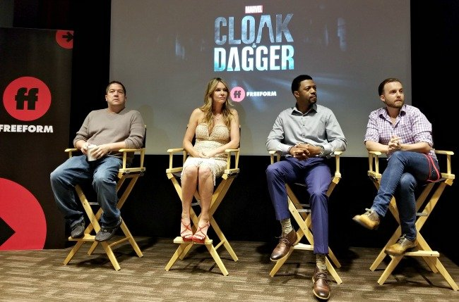 Talking with stars of Marvel's Cloak & Dagger along with Marvel TV VP and the show's executive producer