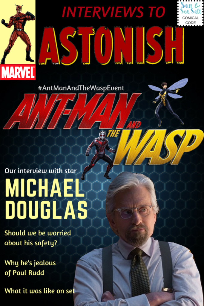 Interview with Ant-Man and the Wasp star, Michael Douglas