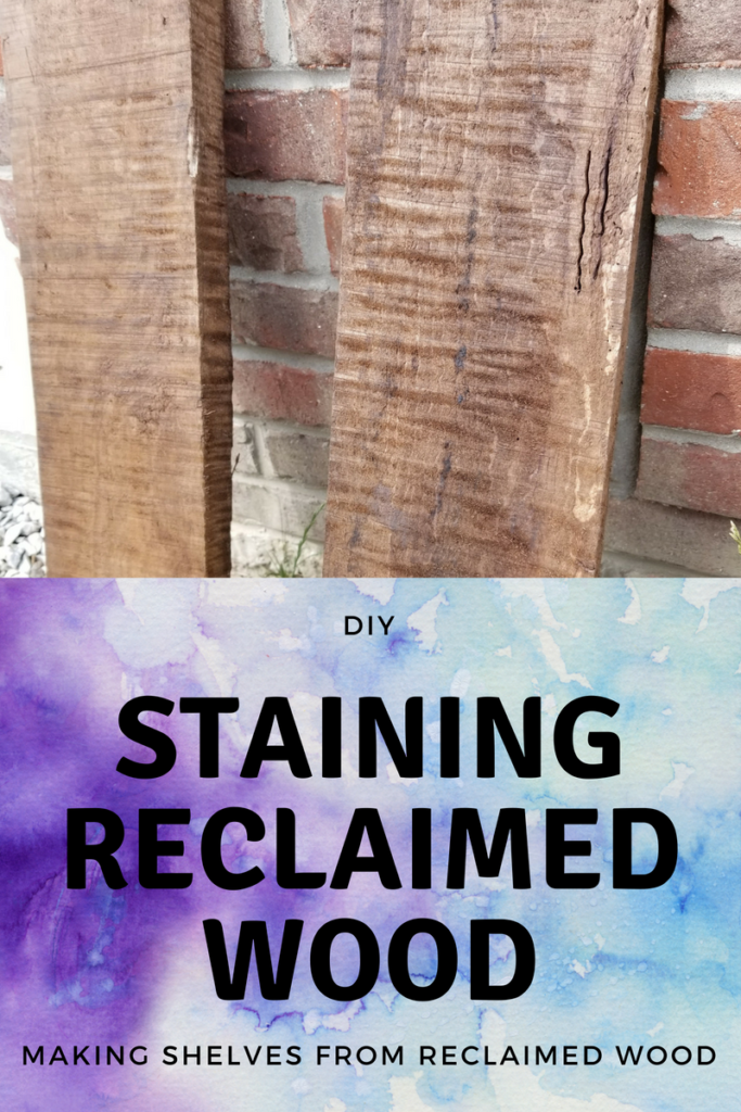 How to stain reclaimed wood for reclaimed wood shelves