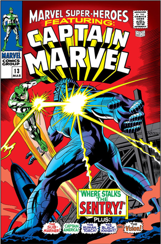 The first comic book appearance of Captain Marvel was in March 1968
