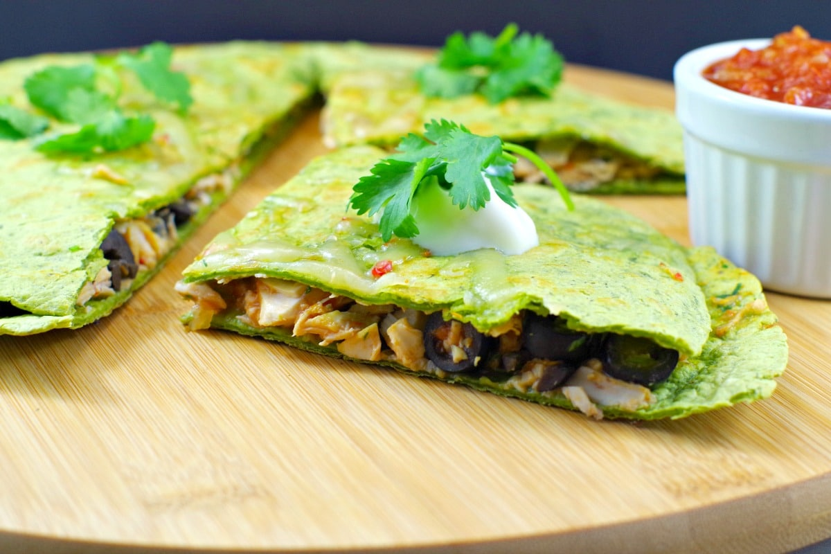 Easy Chicken Quesadilla with low Weight Watchers points