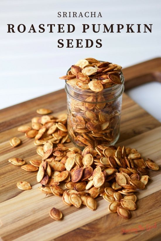 Sriracha Roasted Pumpkin Seeds might just become my new favorite way to cook pumpkin seeds.