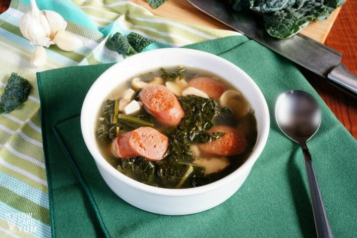 Sausage Kale Soup with 7 ingredients or less