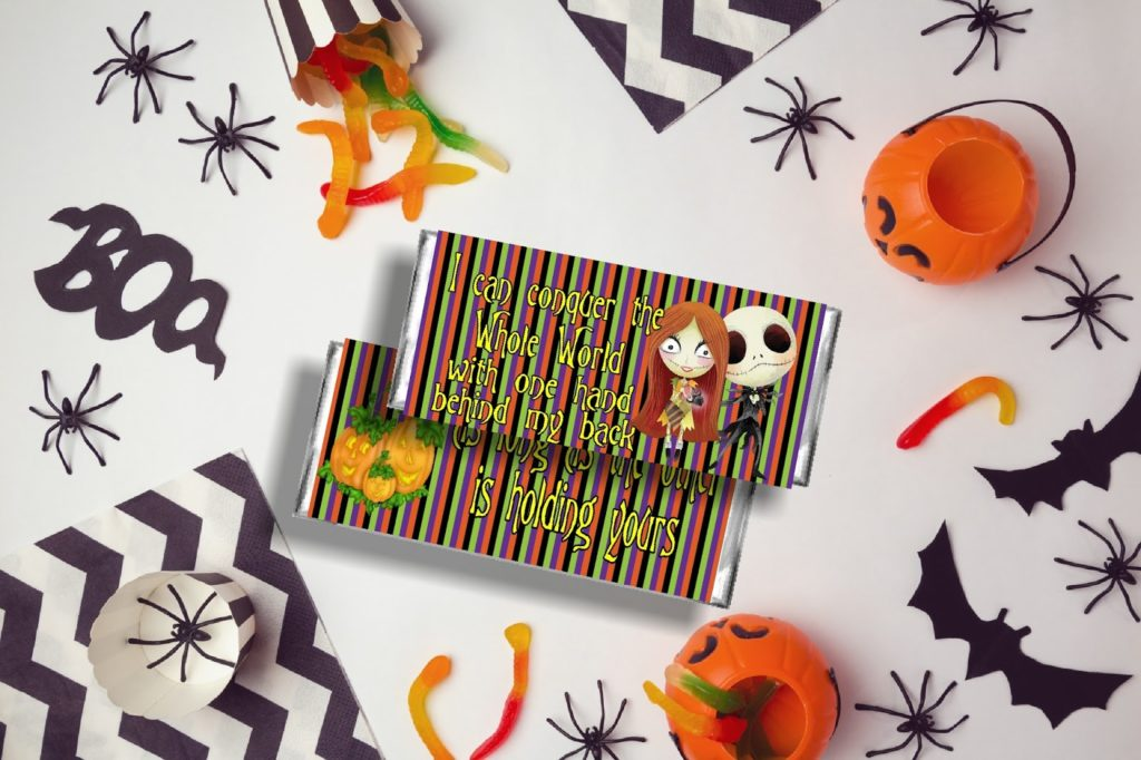 The Nightmare Before Christmas printable candy bar wrappers