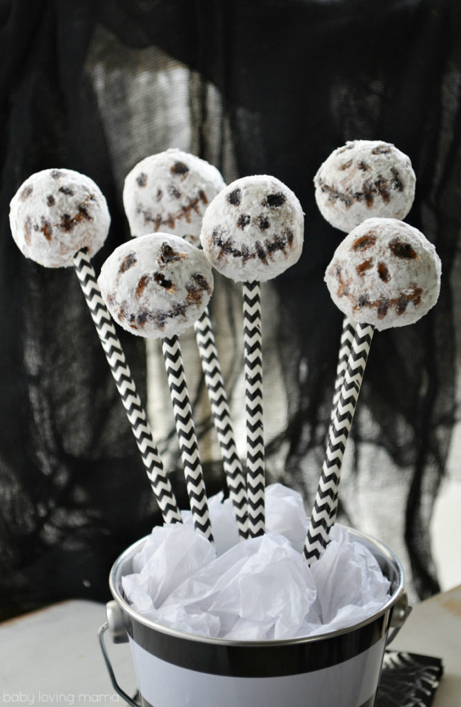 No Bake Jack Skellington Pops