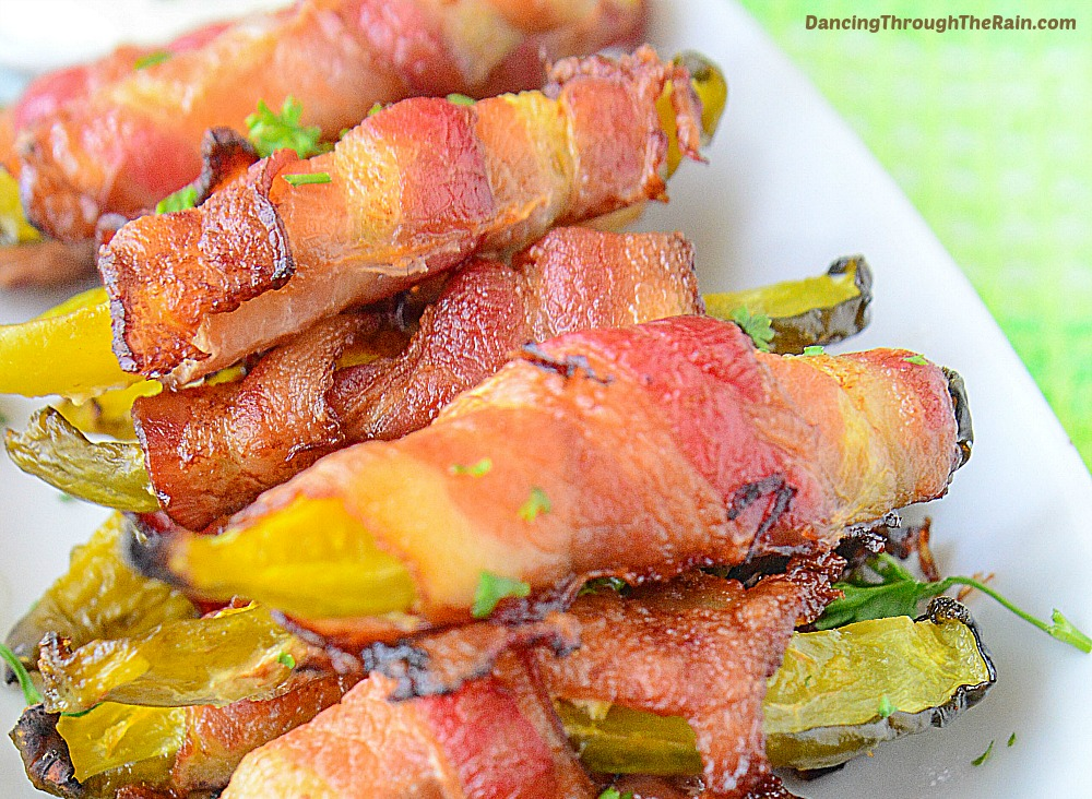 Bacon wrapped pickles sound delicious enough that you can skip dinner.
