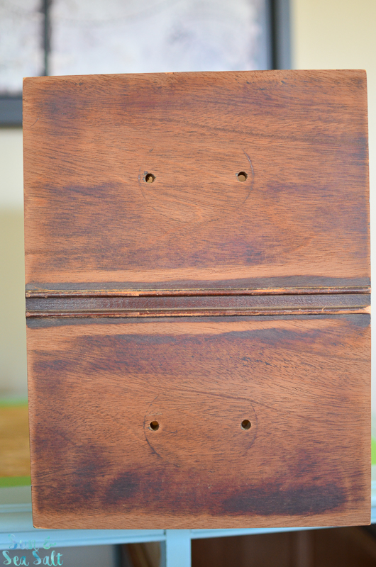I loved the look of the unfinished drawers!