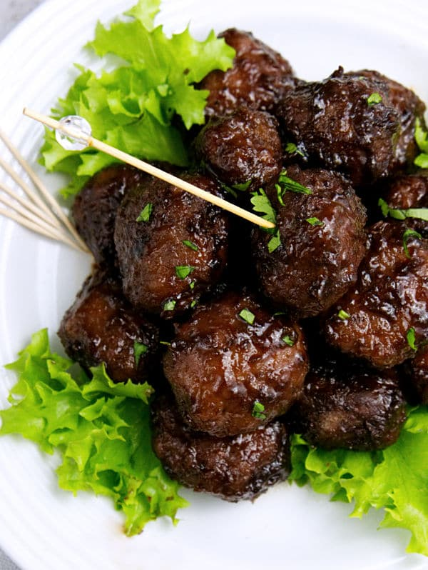 These Easy Sweet & Sour Meatballs are an appetizer that already have my mouth watering