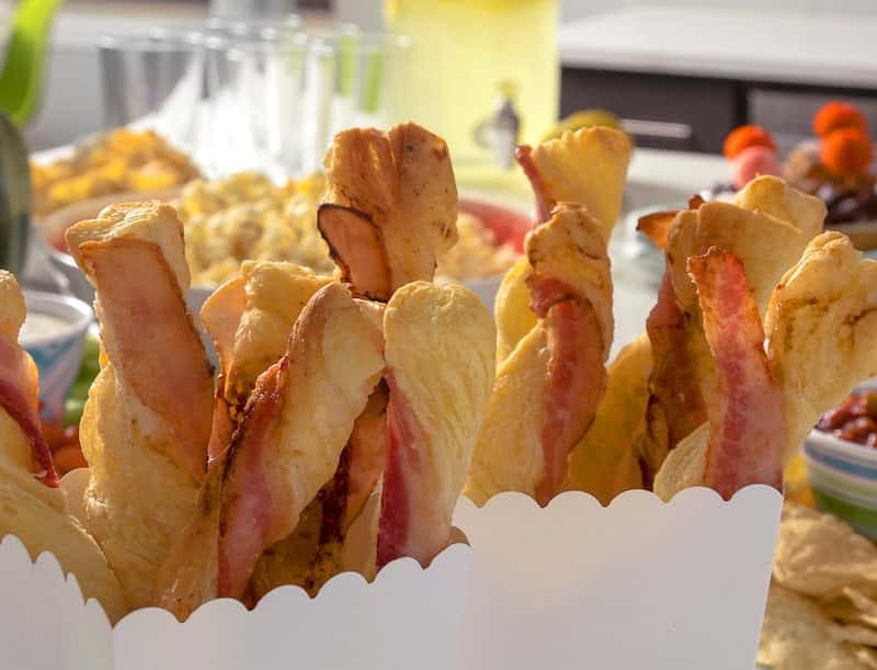 Glazed Bacon and Puff Pastry Twists are a classier Super Bowl snacks idea